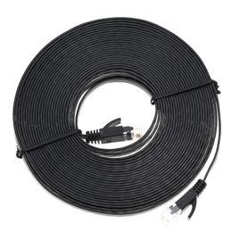 Wholesale Power Cable Network - Wholesale- High Quality 1M 1.8M 3M 5M 7.6M 10M Aurum Cables Flat CAT6 Flat UTP Ethernet Internet Network Cable RJ45 Patch LAN Cable