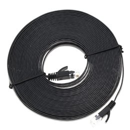Wholesale High Quality Patch Cables - Wholesale- High Quality 1M 1.8M 3M 5M 7.6M 10M Aurum Cables Flat CAT6 Flat UTP Ethernet Internet Network Cable RJ45 Patch LAN Cable