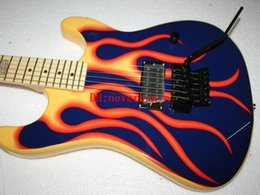 Wholesale Flame Guitar Body For Sale - Newest Sales promotion Vos guitars from china Flame blue Electric Guitar Musical instruments Free Shipping