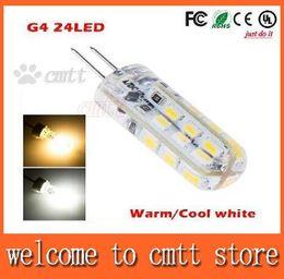 Wholesale G4 Cree - 10pcs 3W 24leds G4 DC12V Led lamp SMD 3014 LED Cabinet Spot Light Lamp Bulb 2 years warranty free shipping