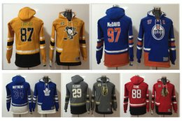 Wholesale Hockey Jersey Style Hoodie - 17-18 Winter Newest Style Youth Hoody Jerseys 88 Patrick Kane 29 Marc-Andre Fleury 8 Alex Ovechkin Kids Size Stitched Hoodies