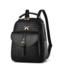 Wholesale Two Way Phones - Women's PU leather bags backbag hot selling woven packet Restoring ancient ways Women Backpacks lady Mochila ZDD10261