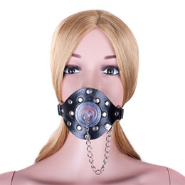 Wholesale Open Gag Stopper - Harness Open Mouth O Ring Gag Stopper with Removable Cover Restraints Bondage Adult Games Sex Toys for Couples Oral Sex Products