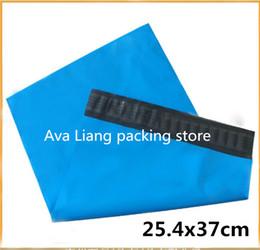 Wholesale Envelope Courier Mailer - 25.4x37cm Plastic Mailers Bag, Blue Poly Posting Courier Envelope, Premium Quality- 50PCS Blue