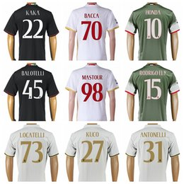 Wholesale Thailand Jersey Milan - 2016 Thailand AC Milan Jersey Soccer Custom Uniform Kits Player Version Football Shirt 16 17 Men 92 ELSHAARAWY 45 BALOTELLI 22 KAKA 70 BACCA