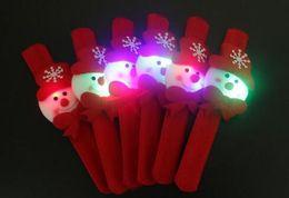 Wholesale Colored Resin Bracelets Wholesale - christmas hallowmas High-end lighted decoration Cloth art clap circle kid Brian circle children shine Ball bracelets Christmas Decorations