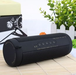 Wholesale Small Speaker Boxes - Portable Small Professional IPX7 Waterproof Outdoor HIFI Column Speaker Wireless Bluetooth Speaker Subwoofer Sound Box black Riding