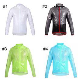 Wholesale White Windbreaker Wholesale - Original WOSAWE Cycling Raincoat Dust Coat Windbreaker Bike Jacket Bicycle Raincoat Waterproof MTB Cycling Raincoat 2510025