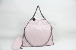 Wholesale Over Sized Shoulder Bags - Free Shipping! Light Powder PINK Women's 3 Chains Fold-Over Falabella stella Shoulder Bags Tote women fashion bag size 36 x 32 x10cm