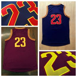 Wholesale Wholesale Men S Apparel - Hottest #23 Burgundy Player Basketball Jersey Discount Cheap Basketball Shirts High Quality Basketball Wear Mens Athletic Apparel In Stock