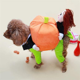 Wholesale Female Pumpkin - Quirky Dog Clothes Christmas Adjustable Costumes Pet Supplies 5 Sizes Available Cotton Maded The God Of Wealth Pumpkin Patterns