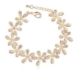 Wholesale Rhinestone Bracelet Vintage - Charm Bracelets Women's Vintage Bohemian Full Rhinestone Snowflake Alloy Extended Bracelet