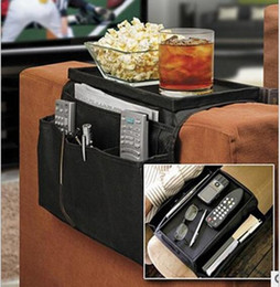 Wholesale Fabric Couches - Sofa Couch Arm Rest Organizer 6 Pockets Armrest Organizer Free Shipping