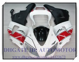 Wholesale 98 R1 Fairings White Black - INJECTION BRAND NEW FAIRING KIT 100% FIT FOR YAMAHA YZFR1 1998 1999 YZF R1 98 99 YZF1000 YZF R1 1998-1999 #WX772 WHITE BLACK