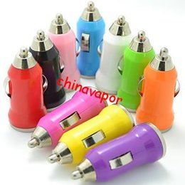 Wholesale Price Usb Lighter - free shipping USA cheap price 5V 2.1A car charger Universal Bullet USB Mini Car charger adapter USB Cigarette Lighter Socket for smart phone