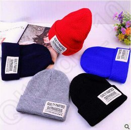 Wholesale European Style Garden - 5 Colors New Arrival European Style Knitted Hat Unisex Wool Warm Knitted Hats Skull Cap Winter Hat LJJC5165 30pcs