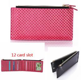 Wholesale Iphone Money Purse - 12 Cards Slot Multifunction Leather Men Women Wallet Clutch carteras Money Clip Zipper Male Female Bag Purses Universal Mobile phone purse