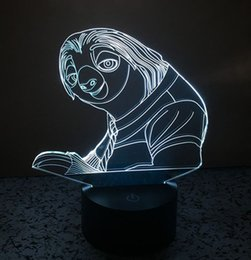 Wholesale Crazy Baby Toys - Crazy animal City Sloth 3D LED Night lights 7 Light Colors Table Lamps for Party Children Bedroom Lamp Baby Toys