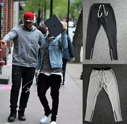 Wholesale High American - Drop ship Justin Bieber zippers jogger pants american high streetwear pants pencil pants for men wholesale support