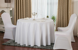 Wholesale Satin Table Cloths White - Table cloth Table Cover round for Banquet Wedding Party Decoration Tables Satin Fabric Table Clothing Wedding Tablecloth Home Textile