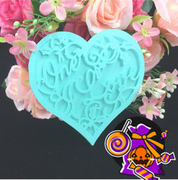 Wholesale Earthing Products - wholesale Wish message wedding card table card Heart-shaped paper card wedding products hot sale free shipping