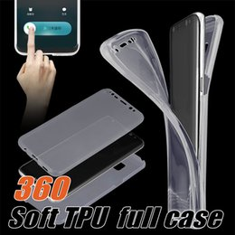 Wholesale Cellphone Gel Cases - Soft TPU 360 Full Cover Case For iPhone 7 Cellphone Crystal Gel Rugged Protective Cover Case For Samsung Galaxy S8 with OPP Package