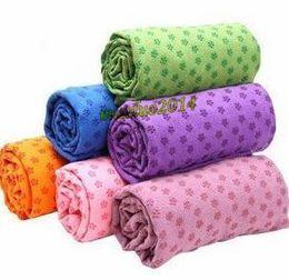 Hot Yoga Mat Cover Yoga asciugamano Yoga Mat antiscivolo stuoie di yoga per il fitness Yoga coperta prugna fiore linea retta 50pcs da