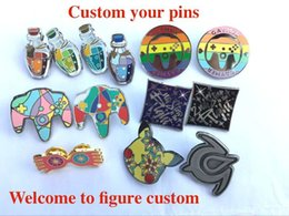 Wholesale Metal Badges Custom - Customization high-grade metal badges custom your pins high quality small quantity brooches woman man jewelry factory price