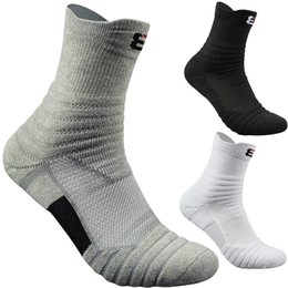 Wholesale Mens Towels - Mens Elite Basketball Socks Thickening Shock Absorber Towel Bottom Cotton Sports Socks Outdoor Running Cycling Breathable Badminton Socks
