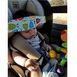 2019 protetores de borda almofadada Bebê colorido cinto de Sono cabeça de segurança infantil Sono Titular Belt Fixing Banda Strap Baby Carriage Belt Protective kid356