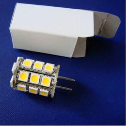 Wholesale Halogen 35w Bulb - Led G6.35 2700K Lamp Lighting Bulb 12VAC 12VDC 24VDC 27LED of 5050SMD 4W To Replace 35W Halogen