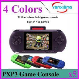 Wholesale Pocket Videos - 5PCS 16 Bit Video Games Player PXP3 Slim Station Pocket Game Handheld Game Console+Dual sim Card+ Gift Box! YX-PXP3