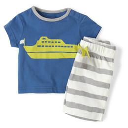 Wholesale Kids Clothing Sale Free Shipping - 36sets Lot Summer Boys Clothes Suits Wholesale Children's Clothing Set Short Sleeve T-Shirt Shorts Suit Hot Sale Kids Pajamas free shipping