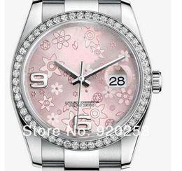 Orologio da polso online-Fiore rosa di alta qualità unisex nuovo arrivato Orologio meccanico automatico da polso 36mm regalo 116244