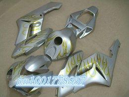 Wholesale Cheap Cbr Fairings - Hot Sales,Cheap For CBR1000RR Fairings 2004-2005 CBR 1000RR 04 05 Silver and Flame Motorcycle