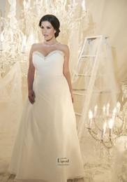 Wholesale Strapless Ruching - 2016 Chiffon Sweetheart Neckline Sequin Beading Ruching Sheath Strapless Bridal Gown Mariano Cdbg Callist Plus Size Wedding Dresses DYBG