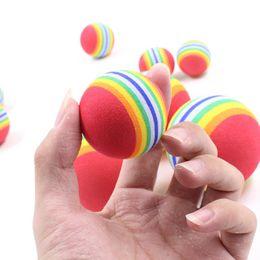 Wholesale balls for pets - Pet Rainbow Ball Round EVA Plush Toy Cartoon For Dog And Cat Molar Chews Balls Toys Popular 1 93hz2 B