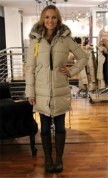 Wholesale Fashionable Hats - 2017 Top Copy Hot Sale With wholesale price Parajumpers Women's Long Bear down Jacket Hoodies Fur Fashionable Winter Parka Free Shipping