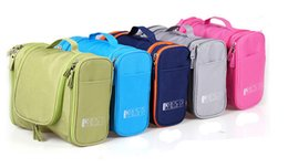 Wholesale Hanging Toiletry Bag Free Shipping - 5 colors Big Travel Multifunction hanging cosmetic bags makeup toiletry holder wash bag Free shipping ELB015