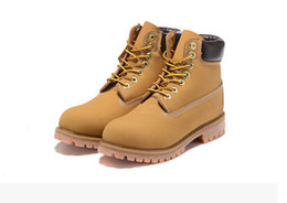 Wholesale Leather Waterproof Boots Women - 2018 Fashion Classic 10061 Wheat Yellow TBL Boots Women Mens Retro Waterproof Outdoor Work Sports Shoes Casual Sneakers Size 34-47