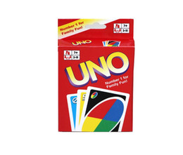 Wholesale playing cards puzzle - Uno Card Game Toys Standard Edition family party games Friend activity toys Card Puzzle Games uno card game playing poker paper cards XX 001