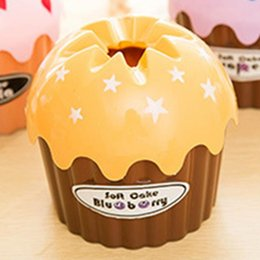 Wholesale Icing Pump - Wholesale- Cute Vivid Ice Cream Cake Paper Towel Tube Tissue Bucket Box Tissue Pumping Box Random Color
