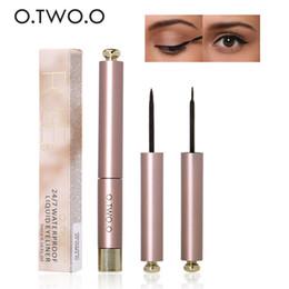 Wholesale Pencil Eyeliner Styles - O.TWO.O Cool Cat Style Black Long-lasting Waterproof Liquid Eyeliner Eye Liner Pen Pencil Makeup Cosmetic Tool N9084