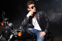 Argentina Nueva llegada chaqueta de cuero de Aff Full Measure Black Premium Biker Jacket de cuero de los hombres Suministro