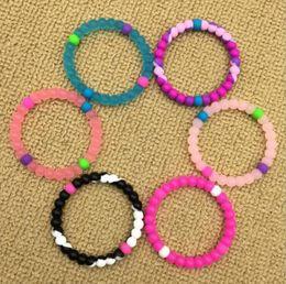 Wholesale Silicone Bracelet Balance - Kids Silicone Bead Bracelet Jelly Beaded Wristbands Power Energy Balance Bangles Silicone Beads Bracelet Charm OOA3121
