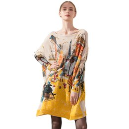 Wholesale Knit Sweater Dress Plus Size - New 2017 Autumn Winter Casual Long Women Sweater Dress Coat Batwing Sleeve Loose Plus Size Clothes Fashion Wool Oversized Pullover Clothing