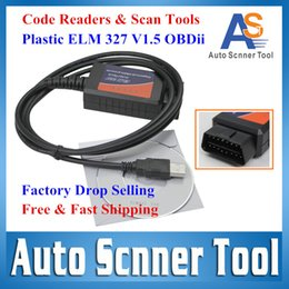 Wholesale Codes For Wholesale Factory - Wholesale-Factory Selling Code Reader & Scan Tools CAN-BUS Super ELM327 USB Interface Plastic ELM 327 V1.5 OBDii For All OBD2 Protocols