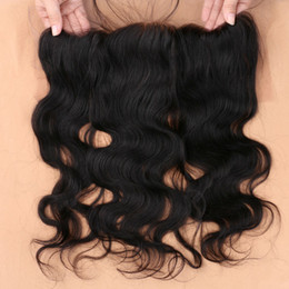 brazilian human hair side closure Coupons - 8A Virgin Peruvian Hair Lace Frontal Closure 13x4 With Free Shipping Body Wave Human Hair Ear to Ear Lace Closure slove hair