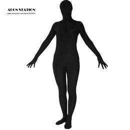 Wholesale Cheapest Bodysuit Costumes - Wholesale-2016 Cheap Halloween Zentai Suit Black Lycra Spandex Full Bodysuit