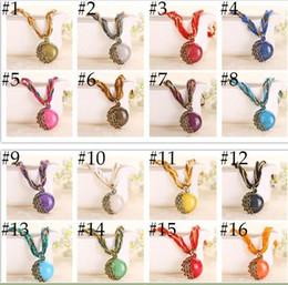 Wholesale Popular Grains - wholesale 60pcs lot Fashion Jewelry Hot Sale Popular Retro Bohemia Style Multilayer Beads Chain Crystal Gem Grain Pendant Necklaces BN001